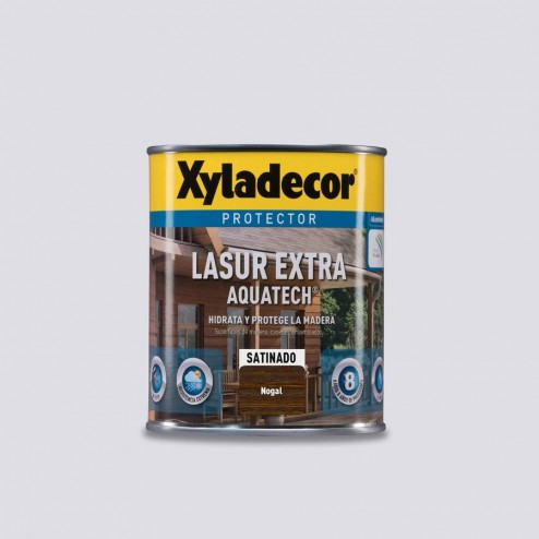 Protector Lasur Extra Aquatech Xyladecor Satinado Nogal 750ml