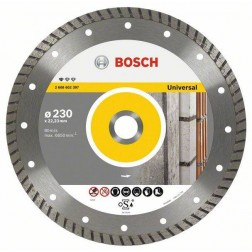 Disco Corte General Obra Turbo 115X22,2 Mm Diamante Upe-T Bosch