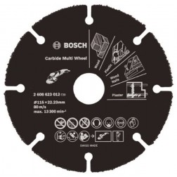 Disco Corte Multimaterial 115X22,23Mm Carburo Carbide Wheel Bosch