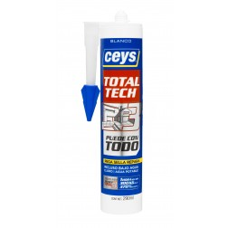 Adhesivo de polímero Ceys Total Tech blanco 290ml.