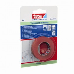 Cinta Adhesiva Doble Cara 19Mmx  5Mt Pet Transparente Tesa Tape