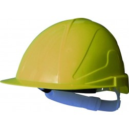 Casco de obra con regulación ABS amarillo