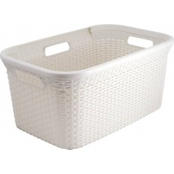 Cesta Curver Natural Style 45l Blanca