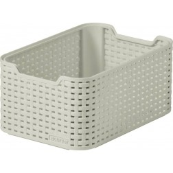 Caja pequeña Curver Natural Style 7L blanca