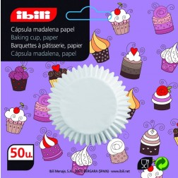 Papel Muffin Blanco Ibili 7 cm. 50 Uds. (12 Uds.)