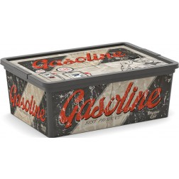 Caja Decorada Vintage Garage Gasoline