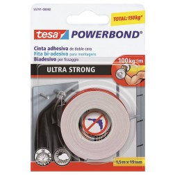 Cinta de doble cara Tesa Powerbond 5mx19mm