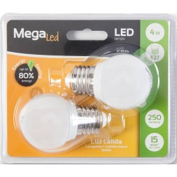 Bombillas de led mini esferica e-27 4w (Pack de 2 unidades)