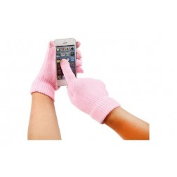 Guante touch movil rosa
