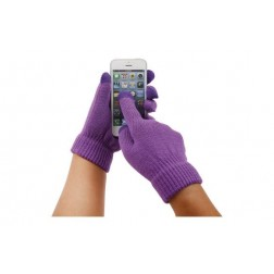 Guante touch movil lila