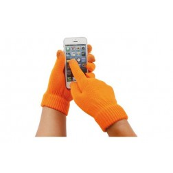 Guante touch movil naranja