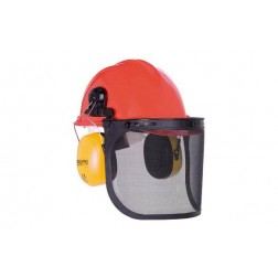 Casco Forestal KiT Completo Casco Visor y Orejera Steelpro