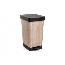 Cubo Pedal Decorado Smart Madera Tatay 25L-WOOD