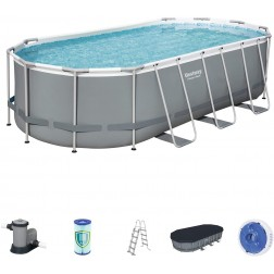 Piscina desmontable tubular Bestway Power Steel 549x274x122cm con filtro de cartucho