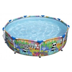 Piscina desmontable tubular Bestway Steel Pro 274x66cm Animales