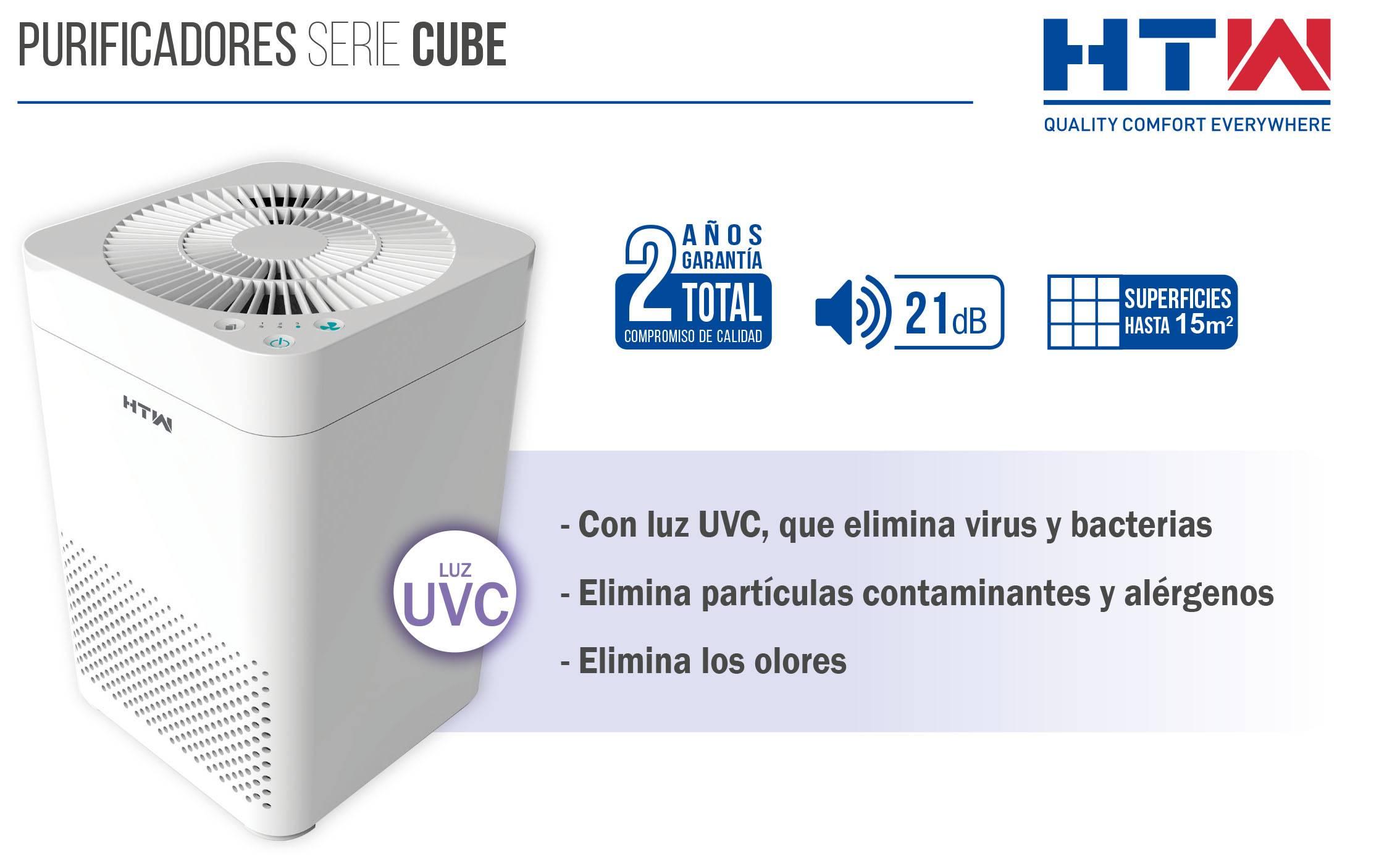 Purificador de aire HTW Cube Luz UVC