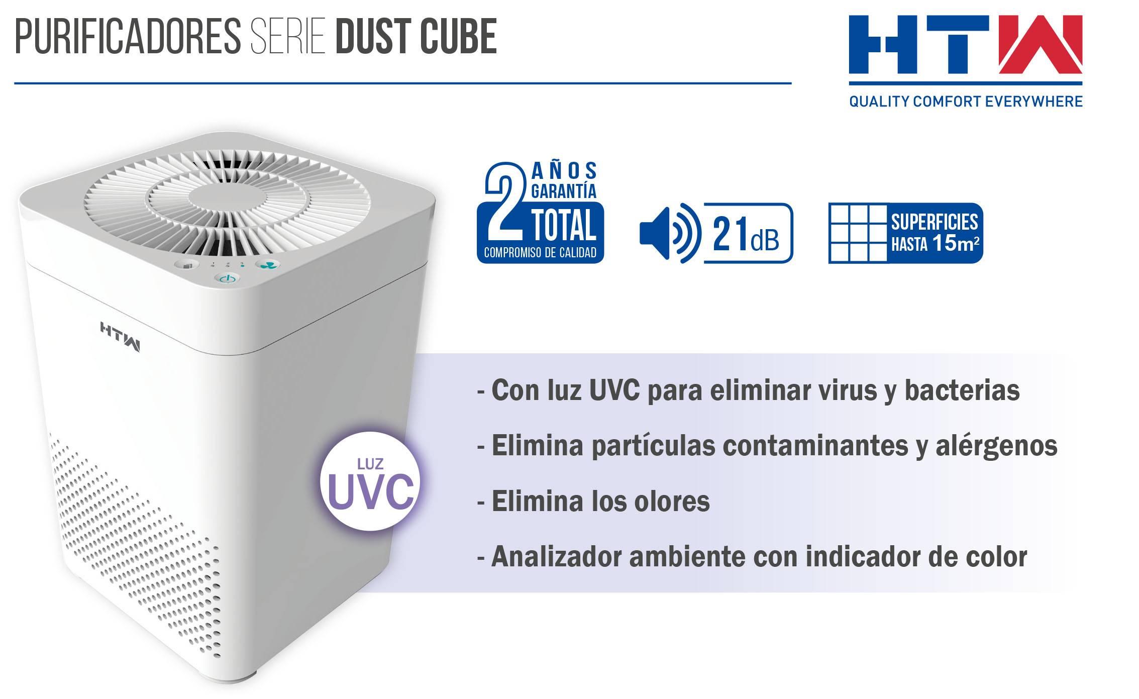 Purificador de aire HTW Dust Cube ficha
