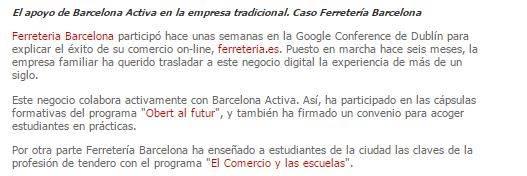Noticia en Barcelona Activa