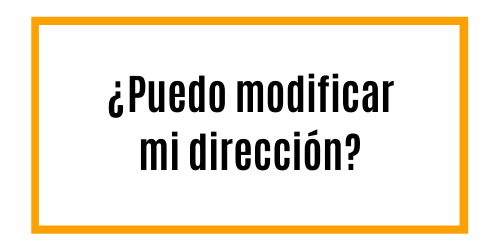 ¿Quieres modificar tu dirección de entrega? ¿O tus datos de facturación? No te preocupes, te ayudamos.
