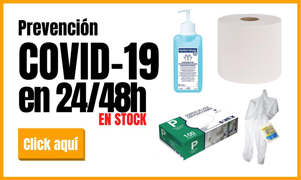 Artículos para la prevención de la Pandemia del Covid-19 en Stock con entregas urgentes