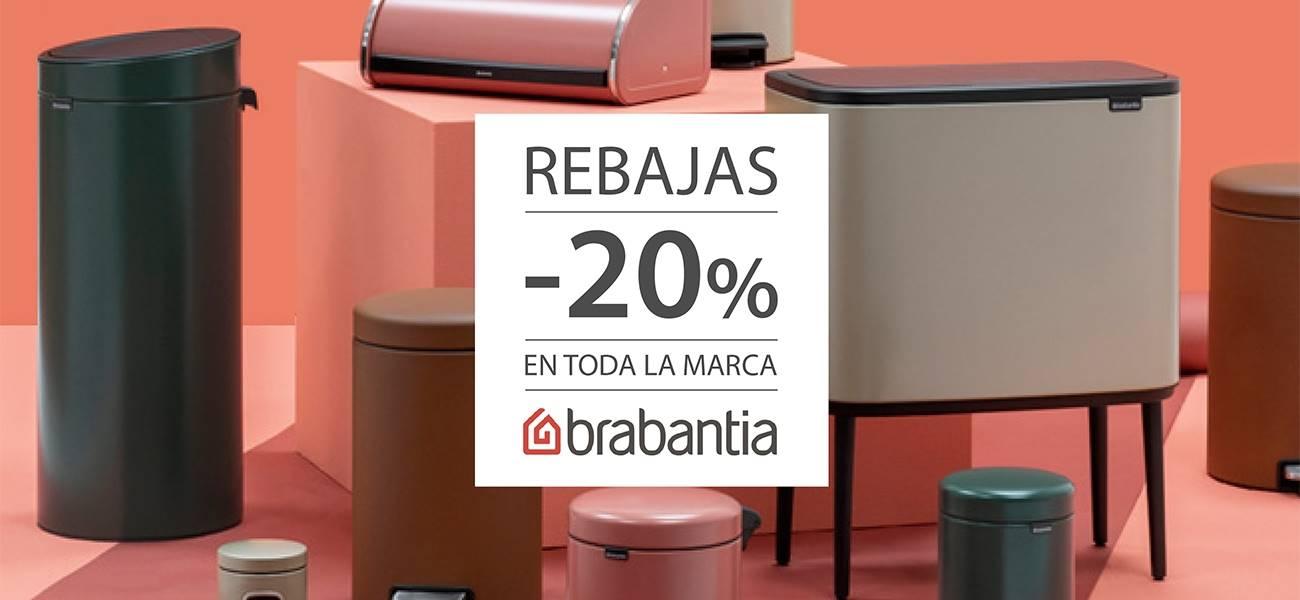 Rebajas de un 20% en todos los productos Brabantia